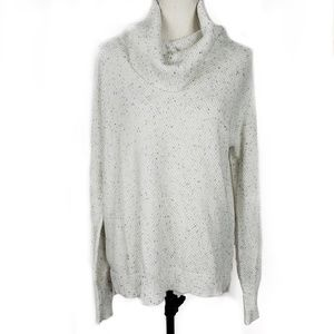 Artisan NY Speckled White Cowl Neck Sweater